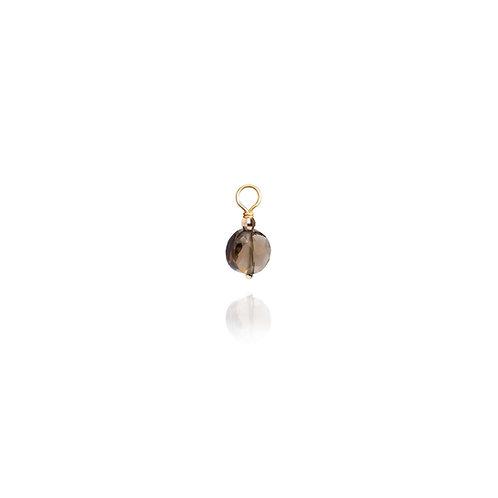 CHARM boucle d'oreille PASTILLE quartz fumé / unité