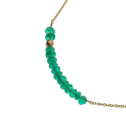 Collier DOT LINE emeraude