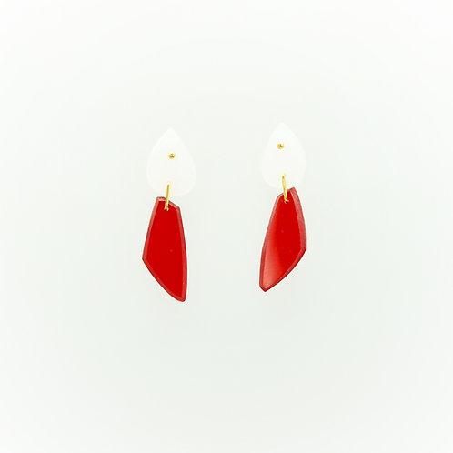 Boucles d'oreilles ARCHITECT rouge