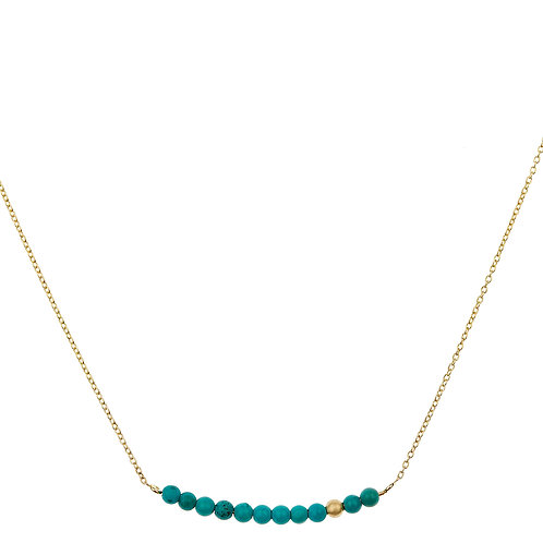 Collier DOT LINE turquoise