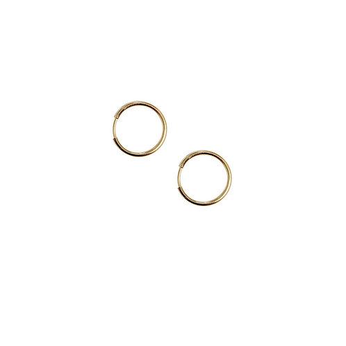 Boucles d'oreilles PETITE CREOLE or 18ct diamètre 1,5cm/ paire