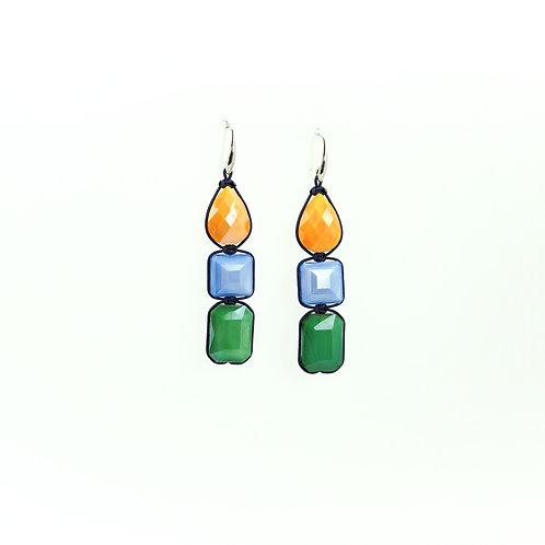 Boucles d'oreilles CRYSTAL tricolore
