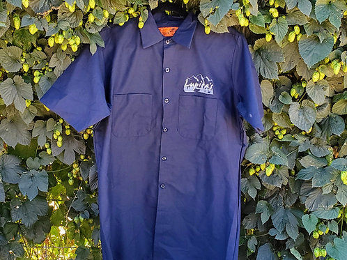 Men's button up shirts-Dark Blue