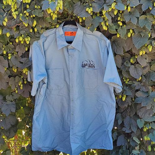 Men's button up shirts-Light Green