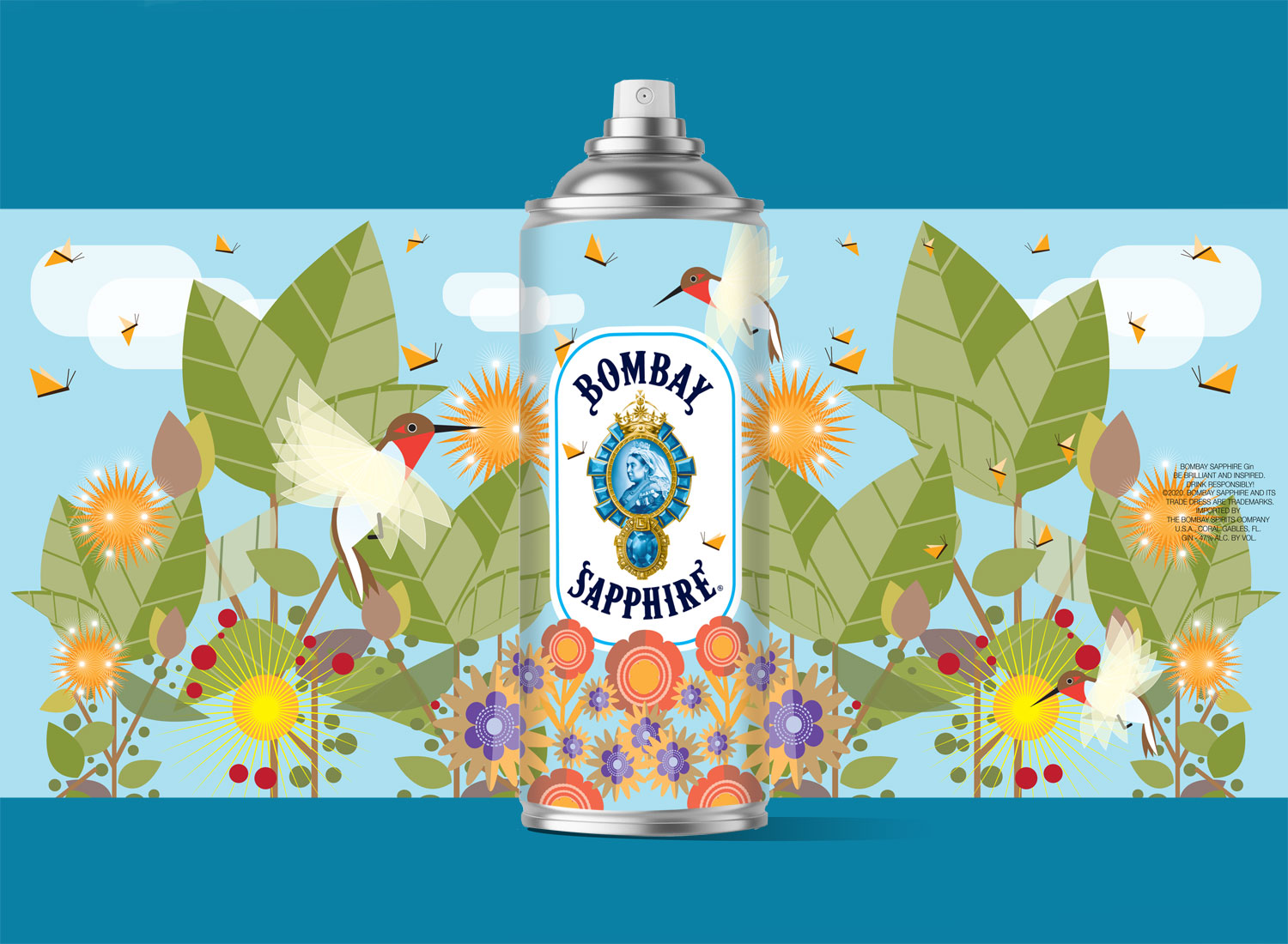 Bombay Gin packaging