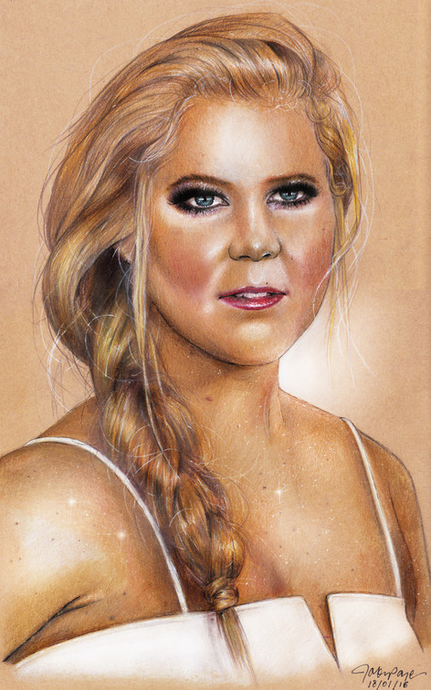 Amy Schumer Illustration, Pencils on Recycled Paper  2016 (c)