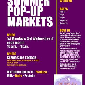 Summer pop-up markets