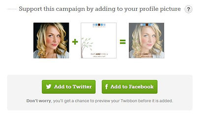 Show your support by adding a badge to your social media profile pictures!
