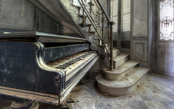 old school piano