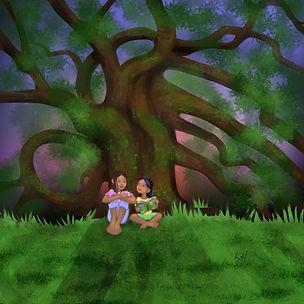 Sharing Under the Tree.jpg