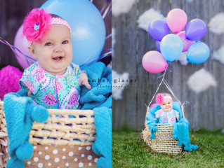Emery | Milestone Session | Happy 6 Months | Balloon Ride