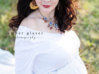 Adrienne | Maternity Session | Golden Hour | Trees | White Dress
