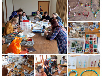 Images from the recent Mixed Craft course in the Small World Theatre Cardigan