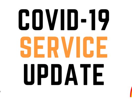 COVID-19 SERVICE UPDATE