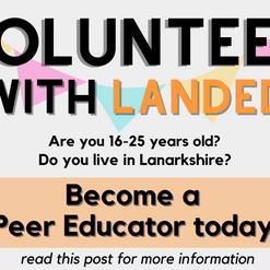 WANTED: Volunteer Peer Educators in Lanarkshire
