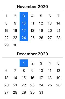 Christmas Term Calendar