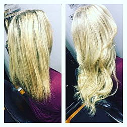Hairextensionsbyjess photo gallery before and after fusion hair extensions 18 full head pmusecretfo Images