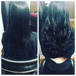 Hairextensionsbyjess photo gallery before and after of a full head of 18 fusion hair extensions for my girl alexacarrington pmusecretfo Images