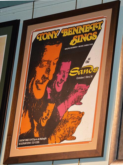 Tony Bennett Sings at the Sands '73 Poster