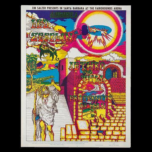 Led Zeppelin, Jethro Tull Tour Poster