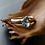 Monsteraleaf スカイ ブルー トパーズ オーバル ファセット カット リング 天然石 ファション ジュエリー