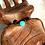 Monsteraleaf アマゾナイト スタッキング シルバー リング 8mm 青 緑 重ねづけ 天然石ジュエリー