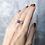 Monsteraleaf タンザナイト スタッキング シルバー  ファッション リング 8mm 青 重ねづけ 天然石ジュエリー