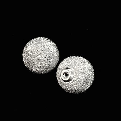 Monsteraleaf バックピアス SV925 スターダスト ボール 12mm 天然石ジュエリー