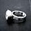 Monsteraleaf キュービックジルコニア 11mm ラウンド ファッション リング 天然石ジュエリー