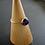 Monsteraleaf アメジスト スタッキング リング 8mm 14KGF 紫 重ねづけ 天然石ジュエリー