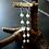 Monsteraleaf 5連 淡水パール ロング ドロップ ピアス 天然石ジュエリー シルバー