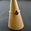 Monsteraleaf ガーネット オーバル カボション スタッキング ファッション リング 7x5mm 14KGF 重ねづけ 赤色 天然石ジュエリー