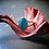 Monsteraleaf ブルー ターコイズ オーバル カボション リング シルバー ファッション ジュエリー 14x10mm 大粒 天然石ジュエリー