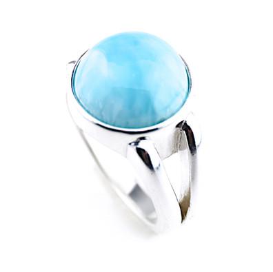 larimar-ring-jewelry-round-Cabochon-12mm