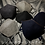 Monsteraleaf レザー調 トリム ツイード フォーマル 秋冬マスク ダブルガーゼ 立体 洗える ハンドメイド