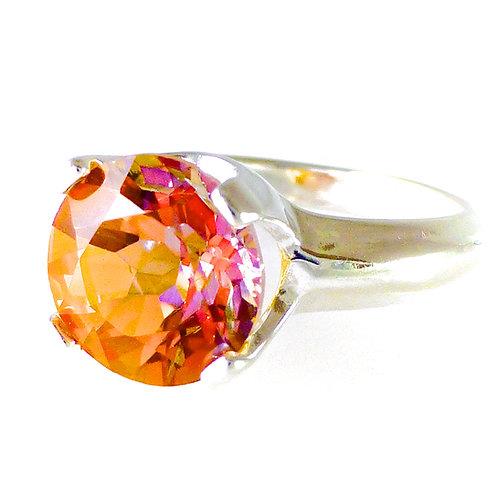Monsteraleaf アナスタシア トパーズ ラウンド リング 10mm オレンジトパーズ 指輪 天然石 ジュエリー