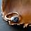 Monsteraleaf ブラック ラブラドライト オーバル カボション リング ファッション 天然石ジュエリー