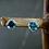 Monsteraleaf ロンドン ブルー トパーズ ピアス ラウンド 6mm 天然石ジュエリー ファセット カット 立て爪 シルバー