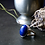 Monsteraleaf ラピスラズリ オーバル カボション シルバー リング 18X13mm 青 大粒 天然石ジュエリー