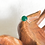 Monsteraleaf グリーン オニキス スタッキング リング 14KGF 10mm 重ねづけ 天然石ジュエリー