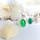 Monsteraleaf グリーン オニキス オーバル カボション シルバー ファッション ボリューム リング 天然石ジュエリー