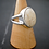 Monsteraleaf リバーストーン オーバル カボション シルバー リング アイボリー 18x13mm 大粒 天然石ジュエリー
