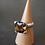 Monsteraleaf ウィスキークォーツ 14mm クッションカット ボリューム リング 大粒 ファッション 天然石ジュエリー