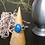 Monsteraleaf デニム ラピスラズリ オーバル カボション リング シルバー ファッション ジュエリー 青 14x10mm 天然石ジュエリー