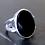 Monsteraleaf オニキス オーバル カボション シルバー リング 18x13mm ブラック 大粒 天然石ジュエリー