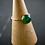 Monsteraleaf グリーン オニキス スタック ファッション リング 8mm 14KGF 重ねづけ 天然石ジュエリー