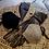 Monsteraleaf レザー調 トリム ツイード 秋冬マスク ダブルガーゼ 立体マスク 洗える ハンドメイド