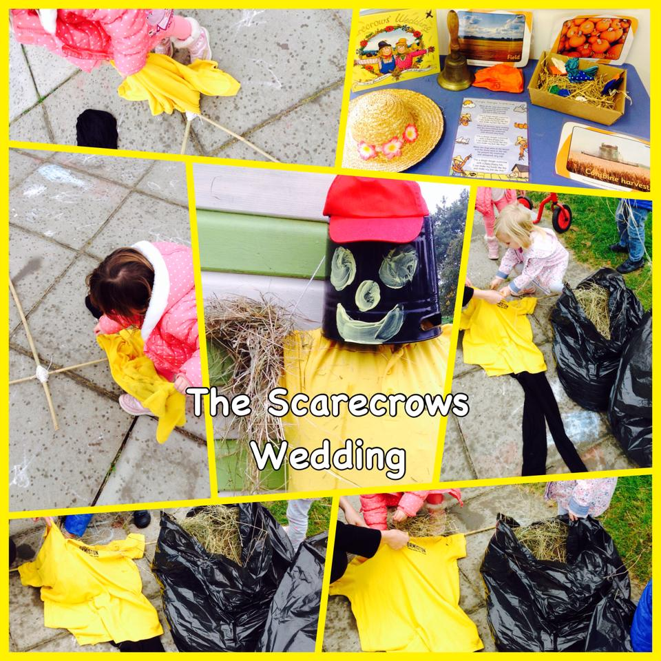 Outdoor scarecrow play