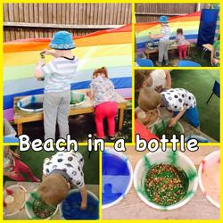 Making beach bottles