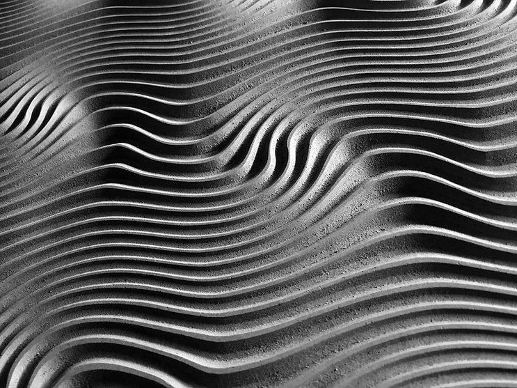 As linhas curvadas